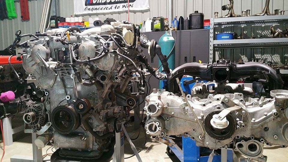 WTF86 project - engine VR38 Nissan V6 - vs - FA20 Subaru boxer 4 cylinder - photo StreetFX