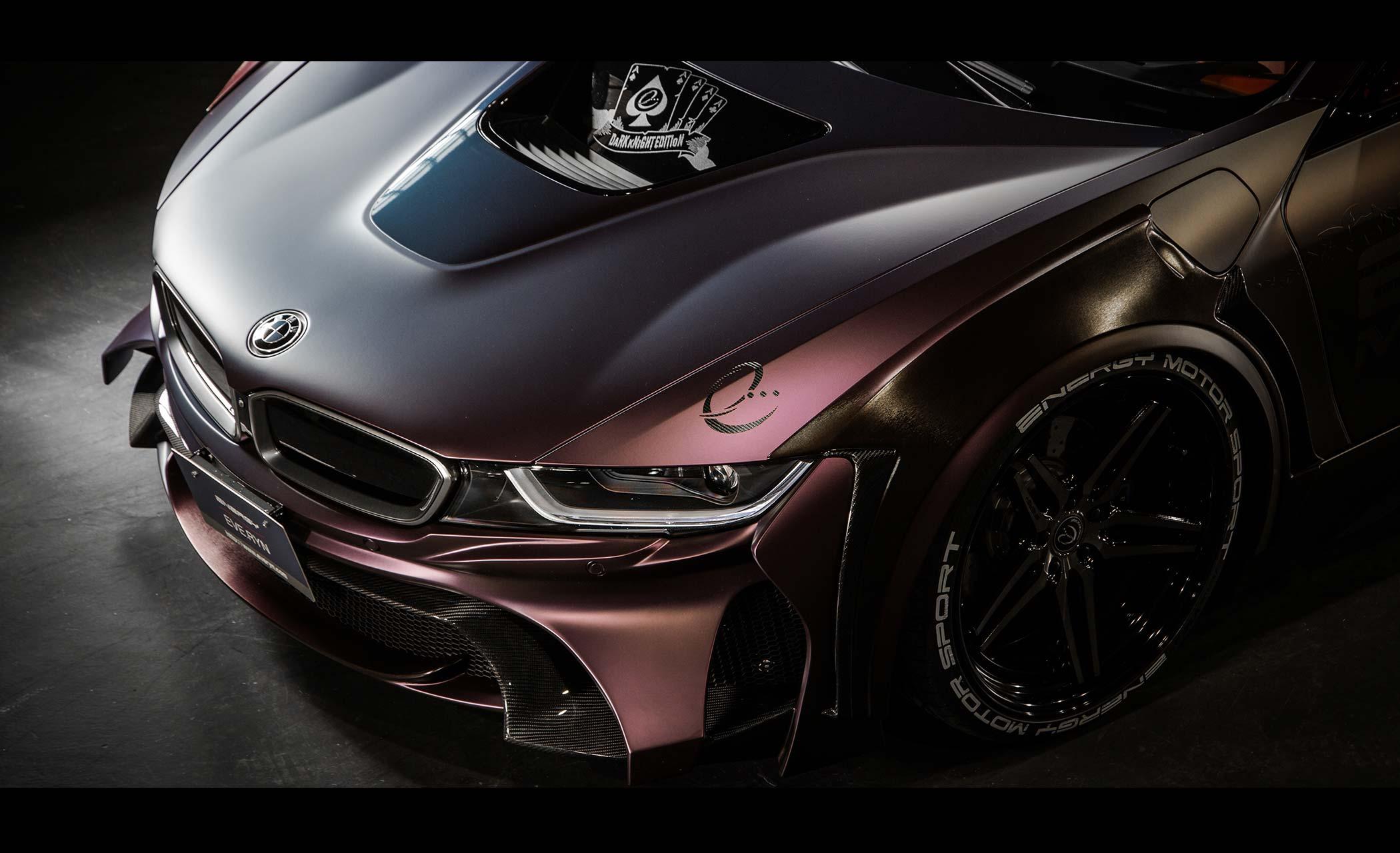 Energy Motorsport - BMW i8 Dark Knight Edition - 2017 - Joker hood