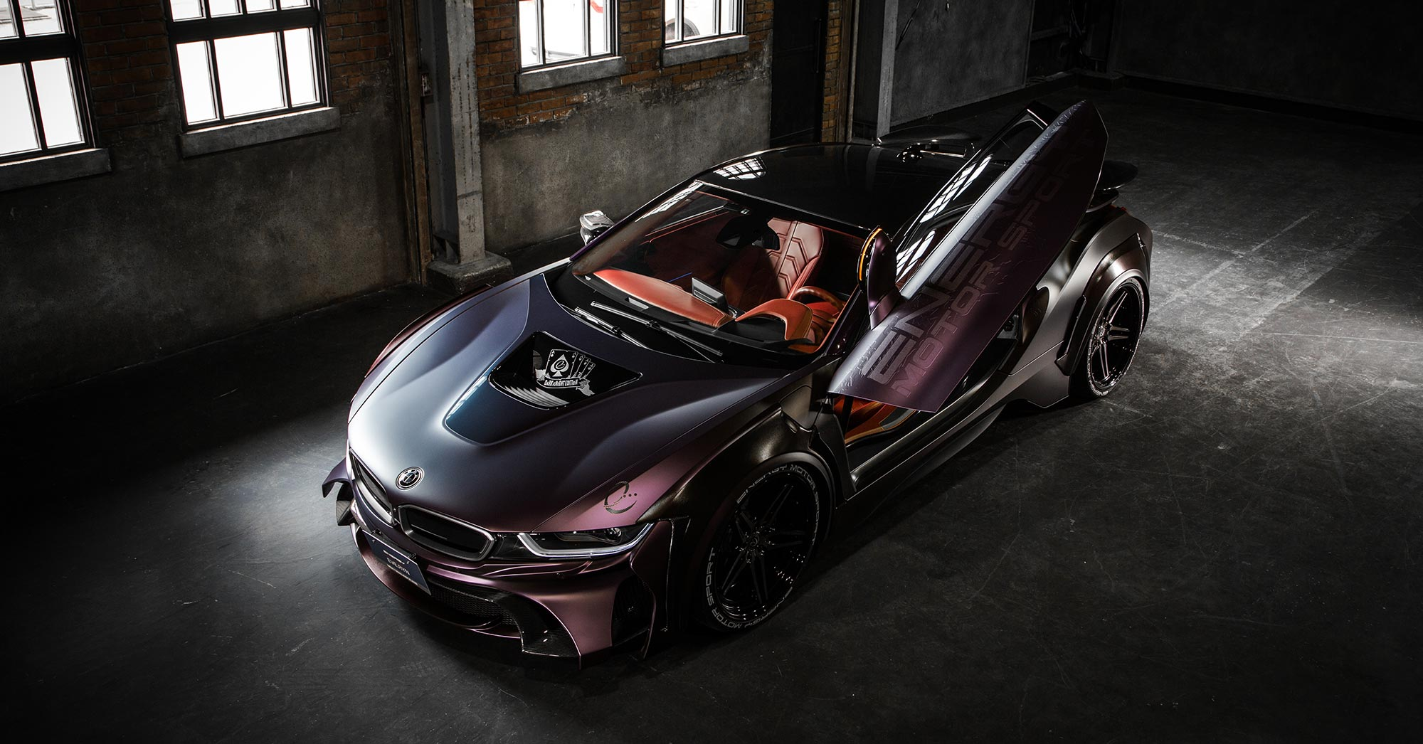 Energy Motorsport - BMW i8 Dark Knight Edition - 2017 - top view