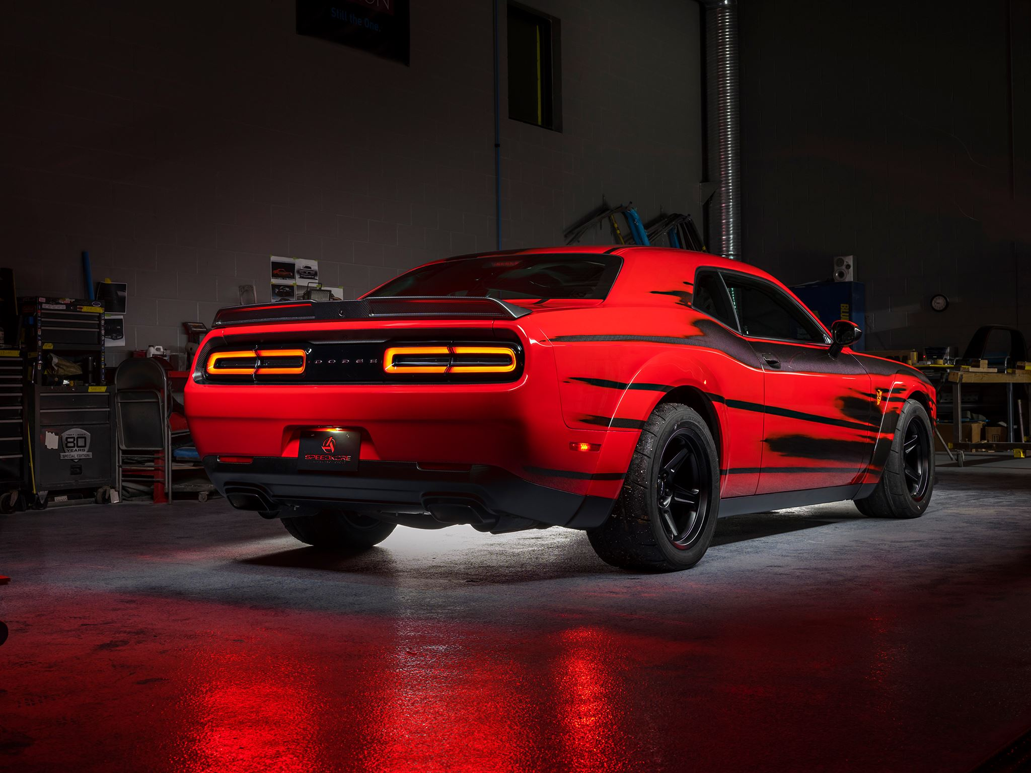 SpeedKore Dodge Demon - 2017 - rear side-face