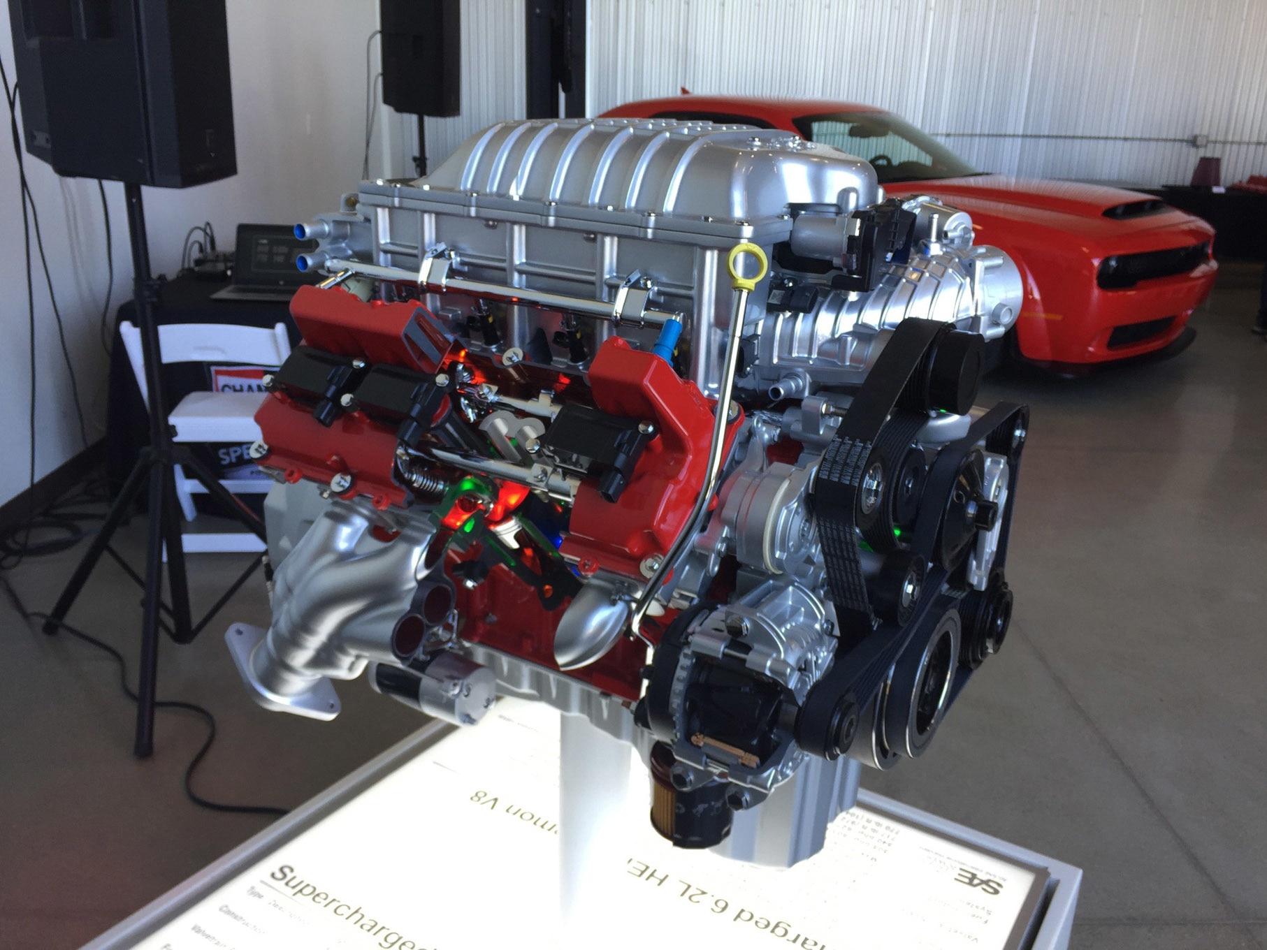 Dodge Demon - 2017 - HEMI engine - photo via hotrod.com