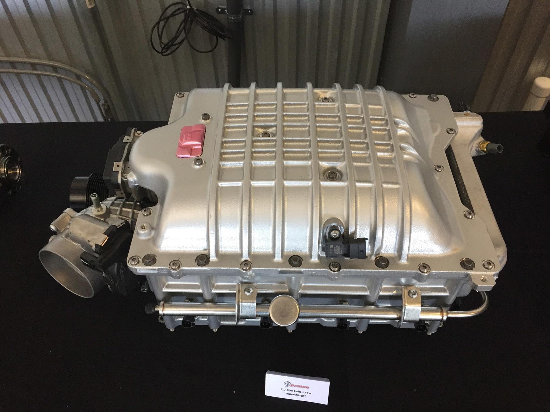 Dodge Demon - 2017 - HEMI engine supercharger - photo via hotrod.com