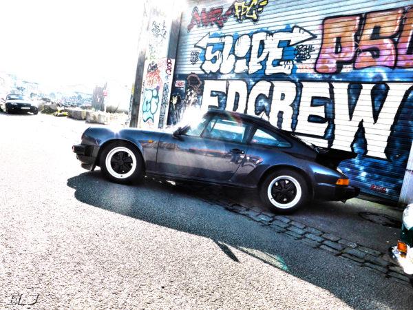 Porsche 911 type G - side-face x Street Art - meeting - AVAM - 2018 - HDR photo by ELJ