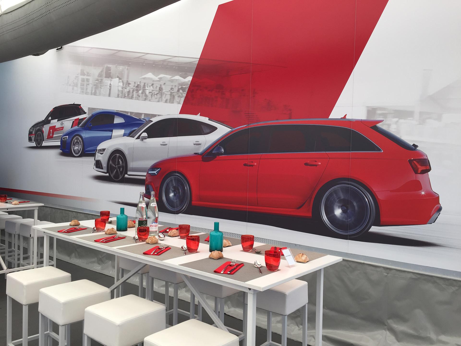 Audi - pause repas - photo Arnaud Demasier