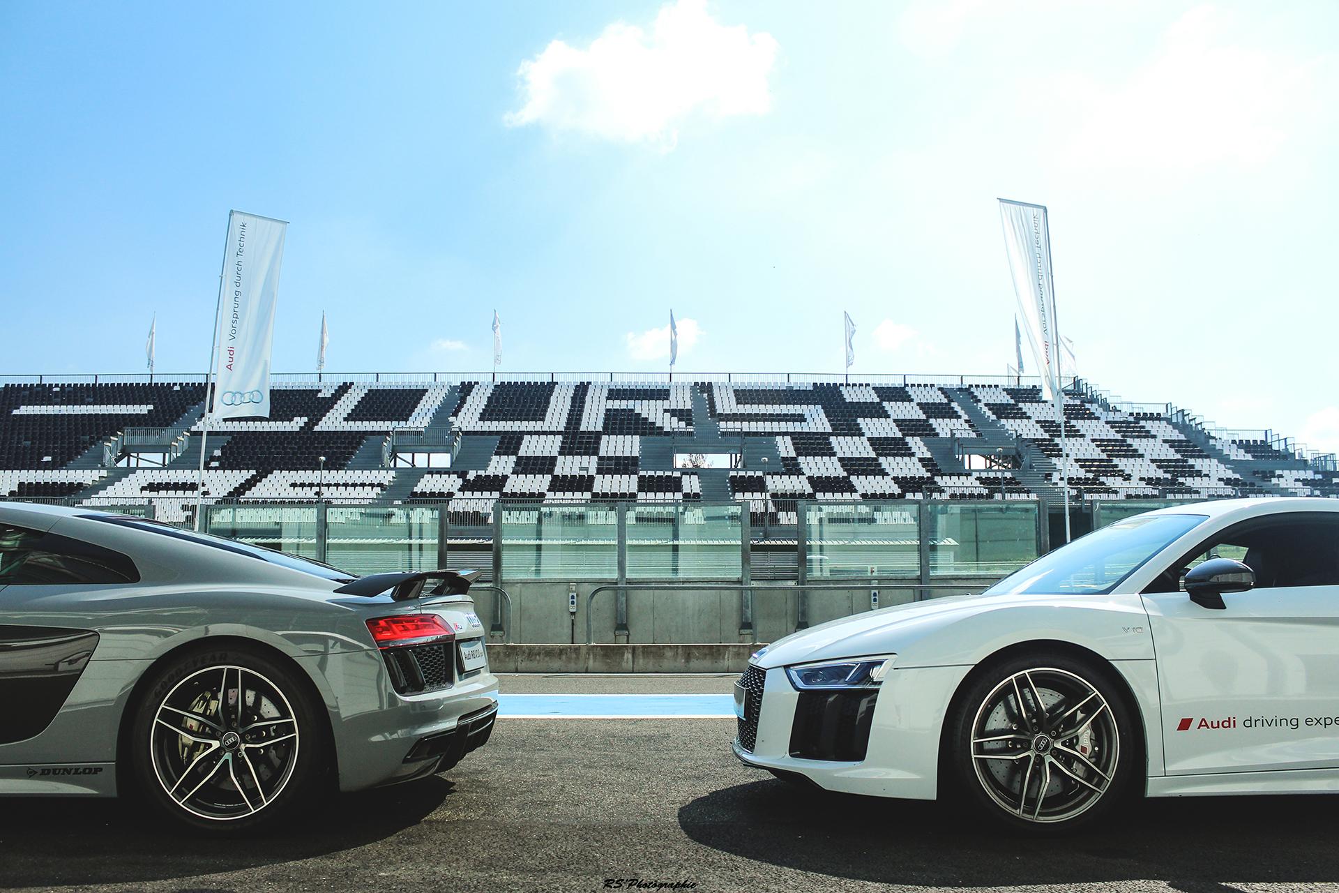 Audi R8 V10 Plus - roues avant arrière / front rear wheels - photo Arnaud Demasier