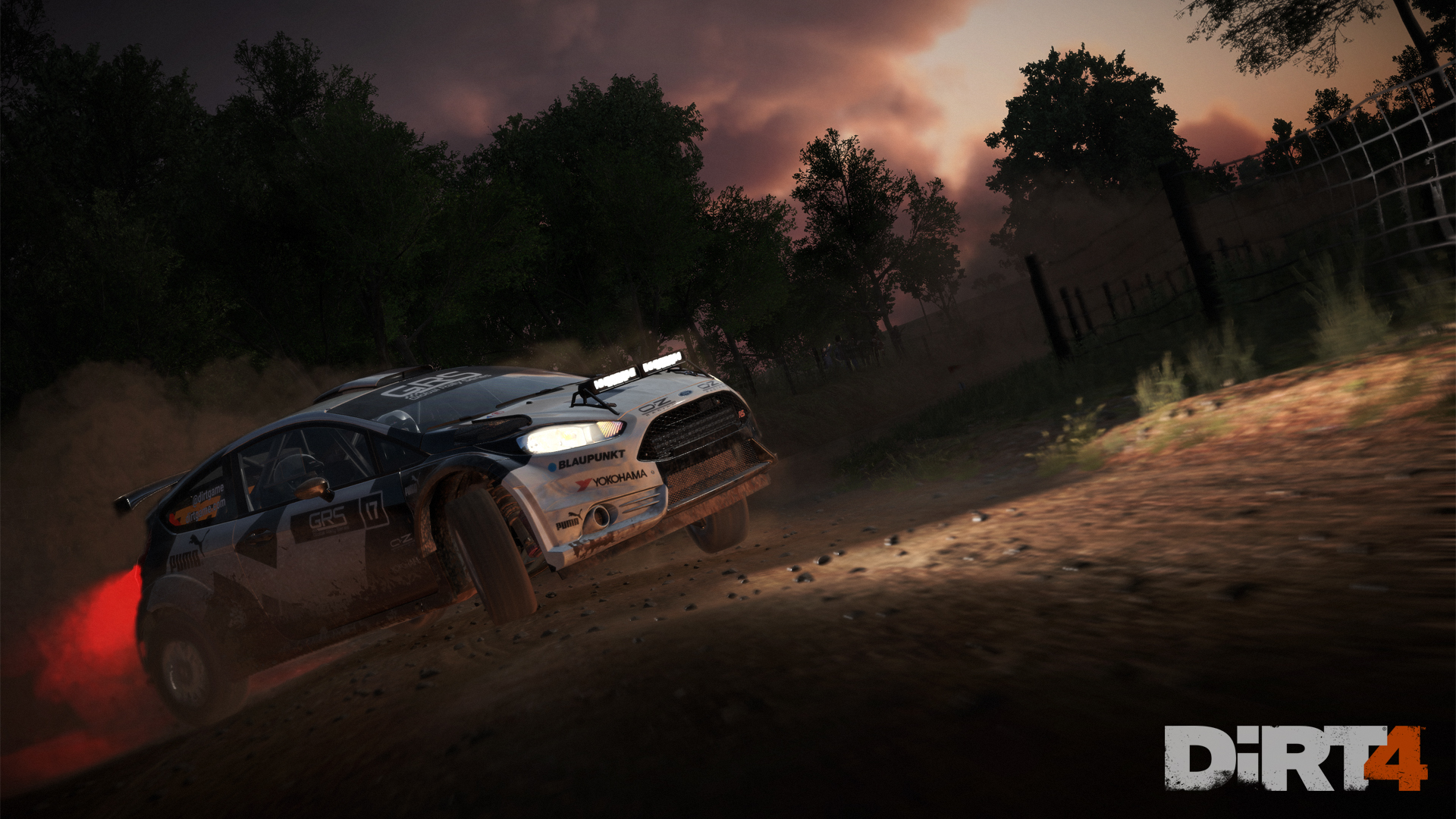 DiRT4 - screen - Fiesta - Australia - night light