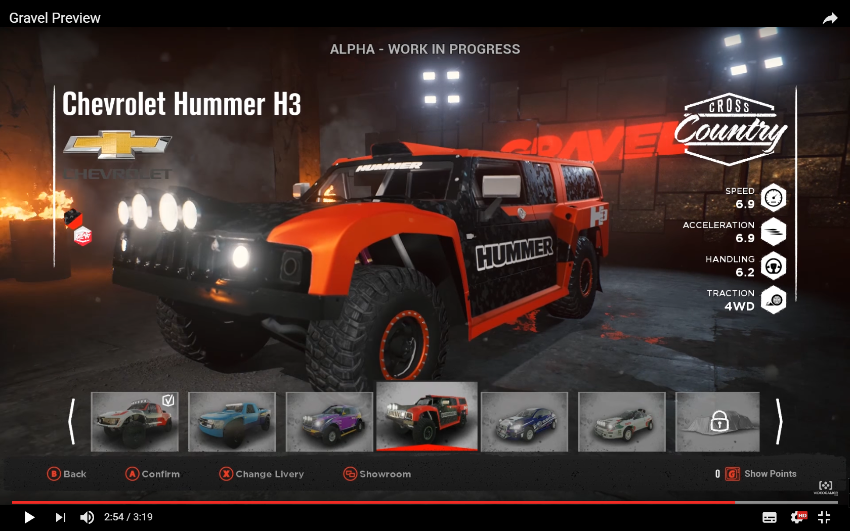 GRAVEL - screen garage car - Chevrolet Hummer H3