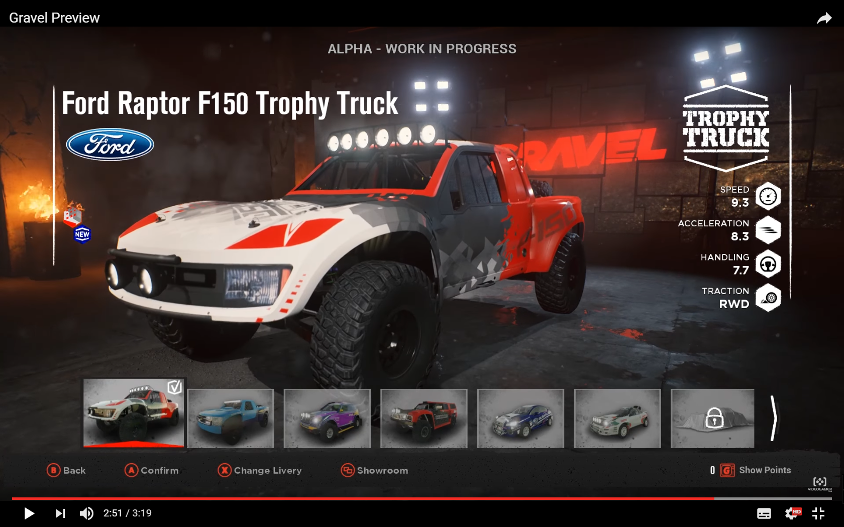 GRAVEL - screen garage car - Ford Raptor F150 Trophy Truck