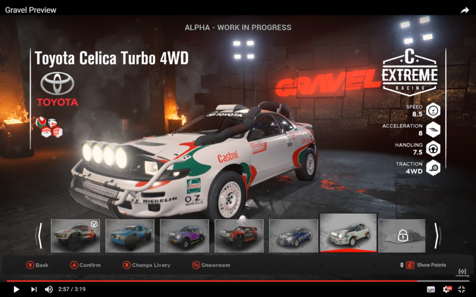 GRAVEL - screen garage car - Toyota Celica Turbo 4WD