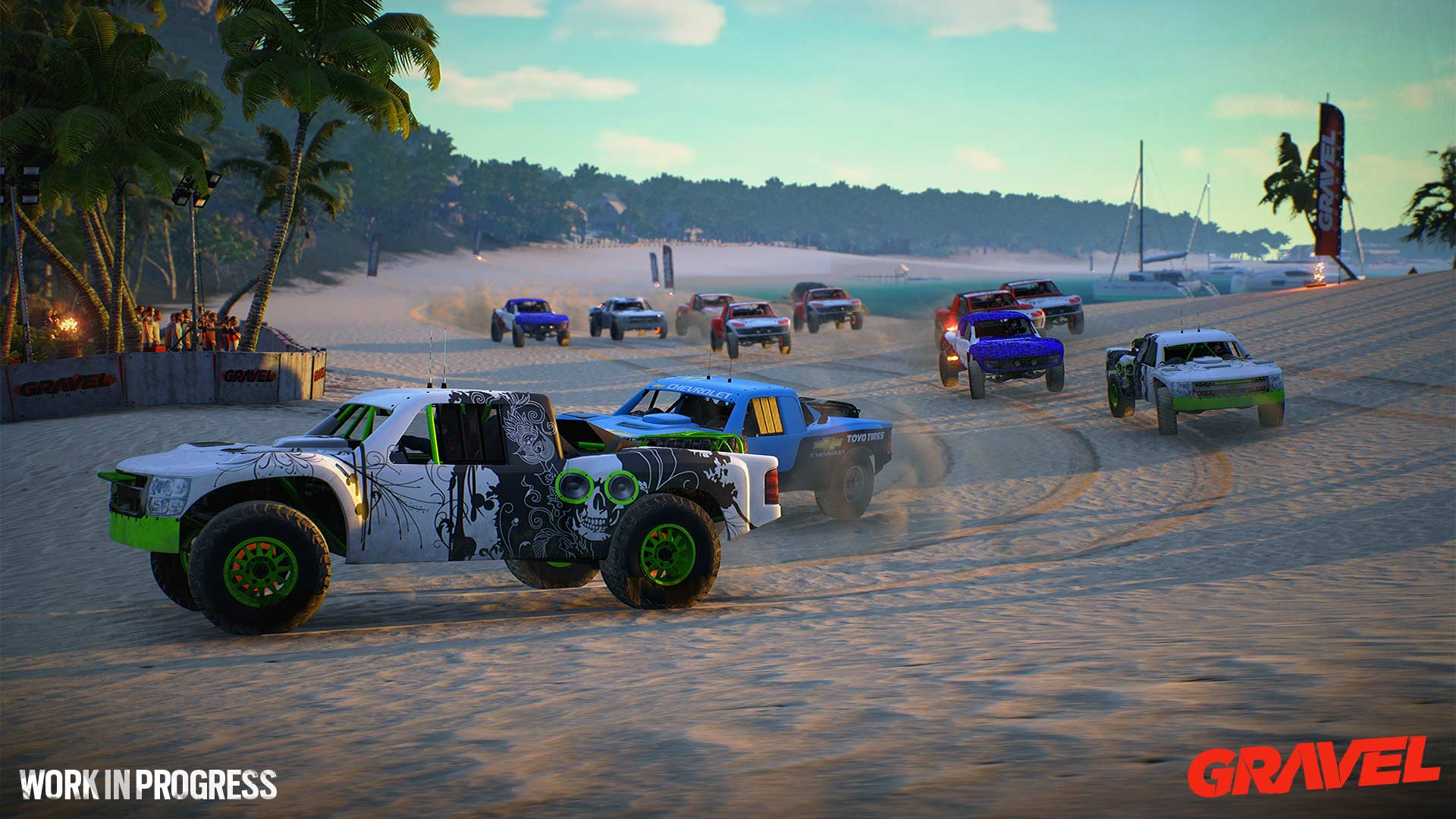 GRAVEL - screen - offroad cars racing beach