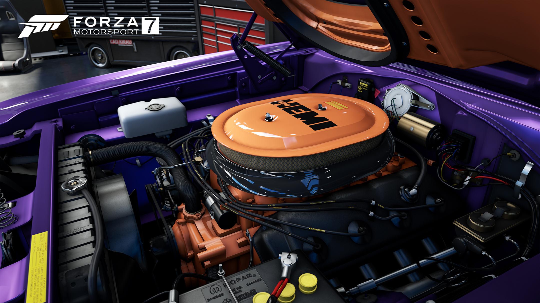 Forza Motorsport 7 - screen -  under the hood HEMI engine