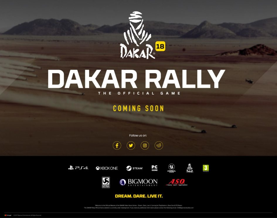 dakar rally official game annonce d 39 arriv e au point de. Black Bedroom Furniture Sets. Home Design Ideas