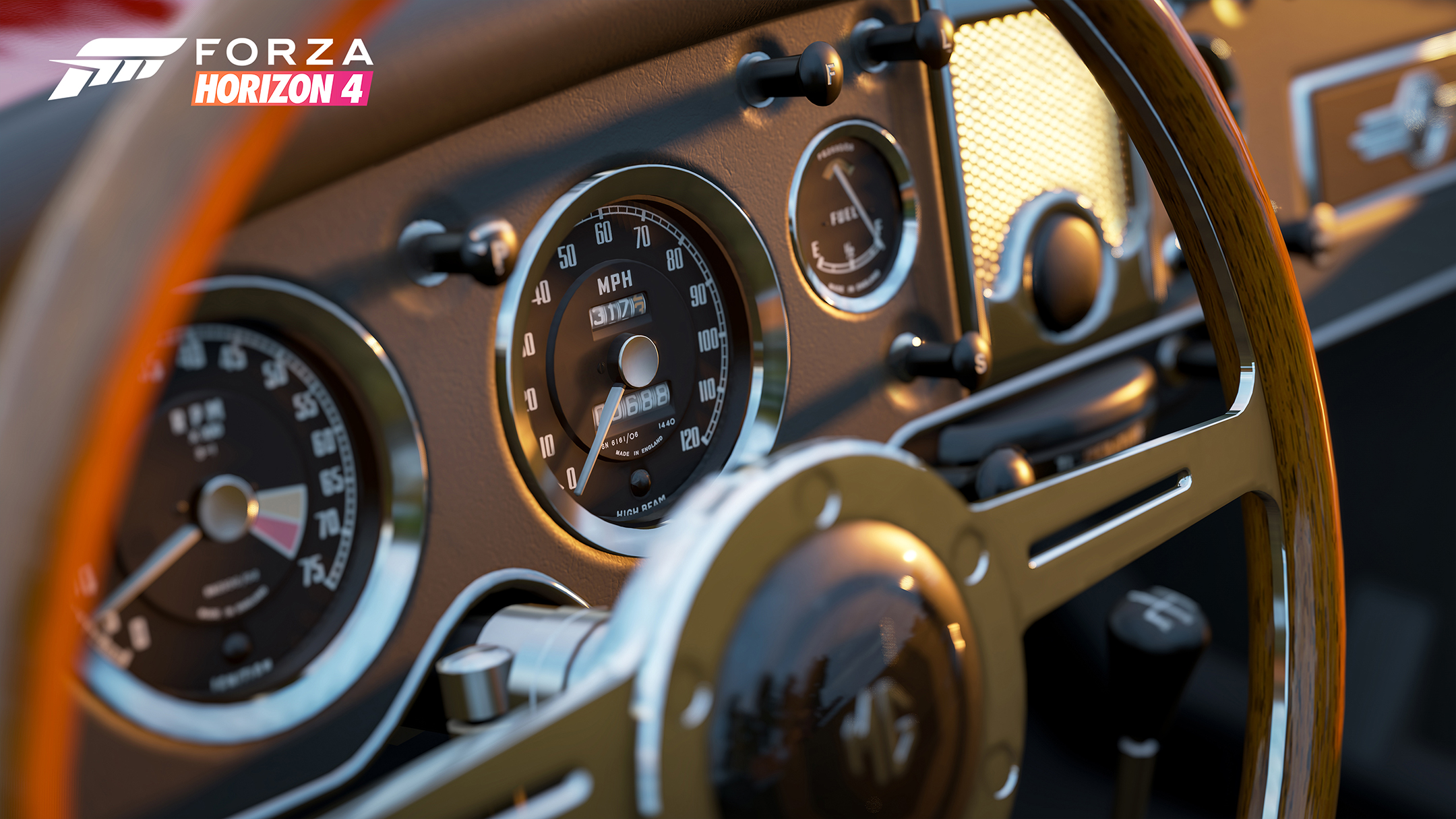 Forza Horizon 4 - 2018 - screen car - MG steering wheel