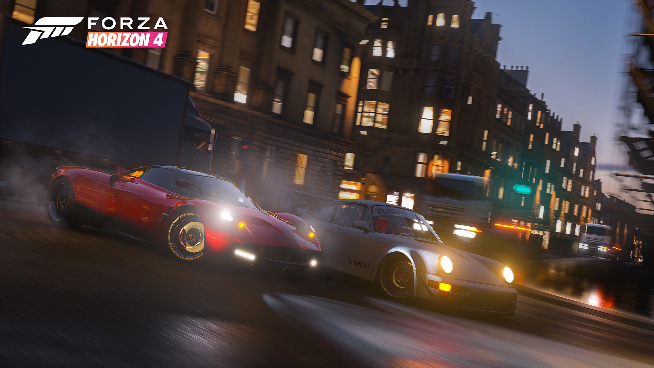 Forza Horizon 4 - 2018 - screen cars - Pagani vs Porsche - night drift