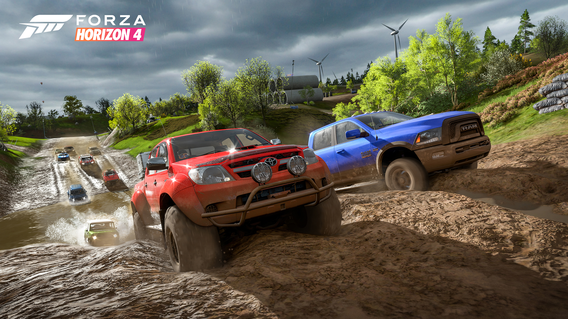 Forza Horizon 4 - 2018 - screen cars - dirt trucks - RAM vs Toyota
