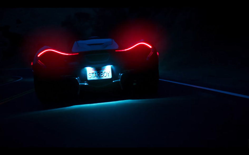 Starboy - The Weeknd - McLaren P1 - rear lights