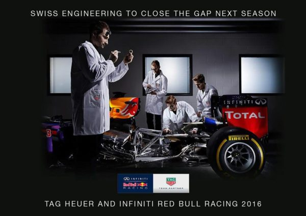 Red Bull TAG Heuer - team partner - 2016