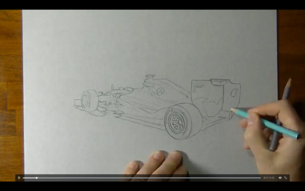 Mercedes AMG F1 - drawing start reveal W07 - artwork by BarenghiM