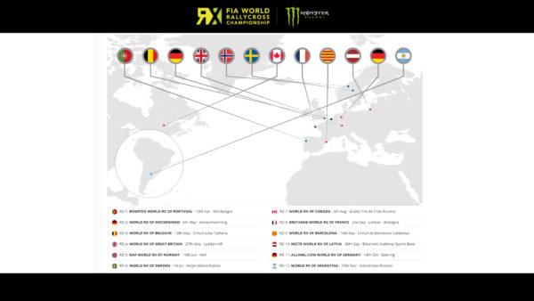World Rallycross Championship 2016 - calendar