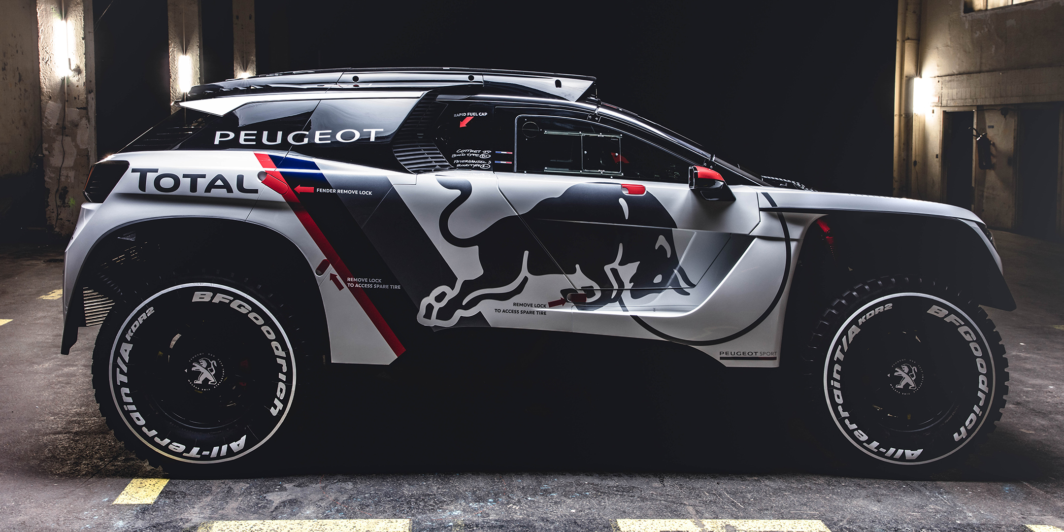Peugeot 3008DKR - 2017 - side-face / profil