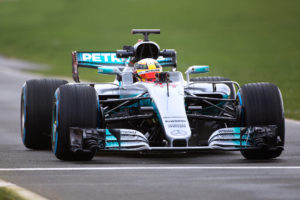 Mercedes-AMG F1 W08 - 2017 - front track