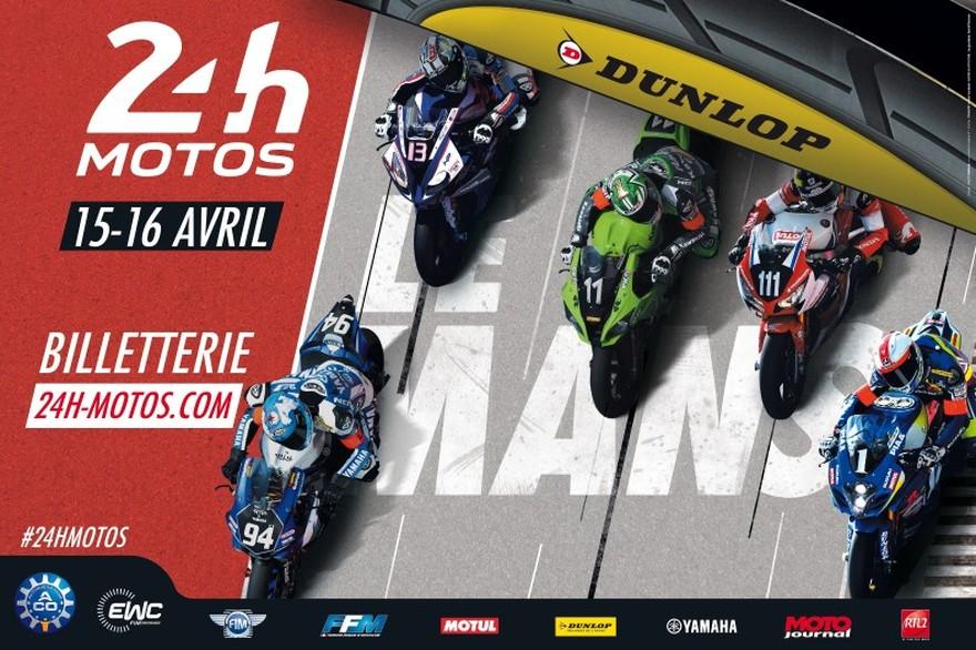 Affiche des 24 Heures Motos 2017 - cover