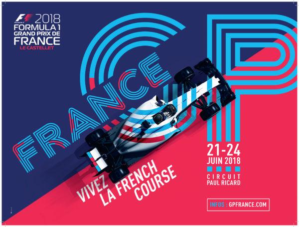 F1 Grand Prix de France - Le Castellet - 2018 - poster