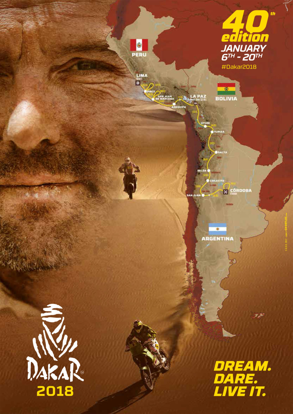 Dakar - 2018 - route map - cover