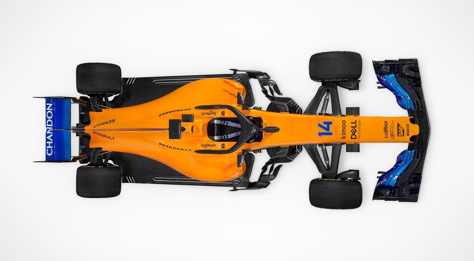 McLaren F1 Team MCL 33 - 2018 - top view