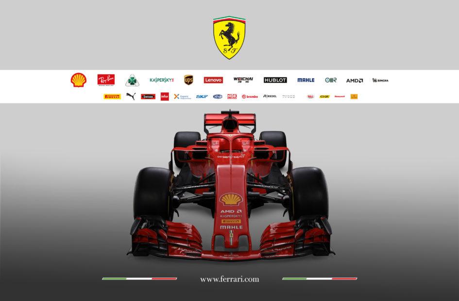 Scuderia Ferrari F1 SF-71H - 2018 - top front-face