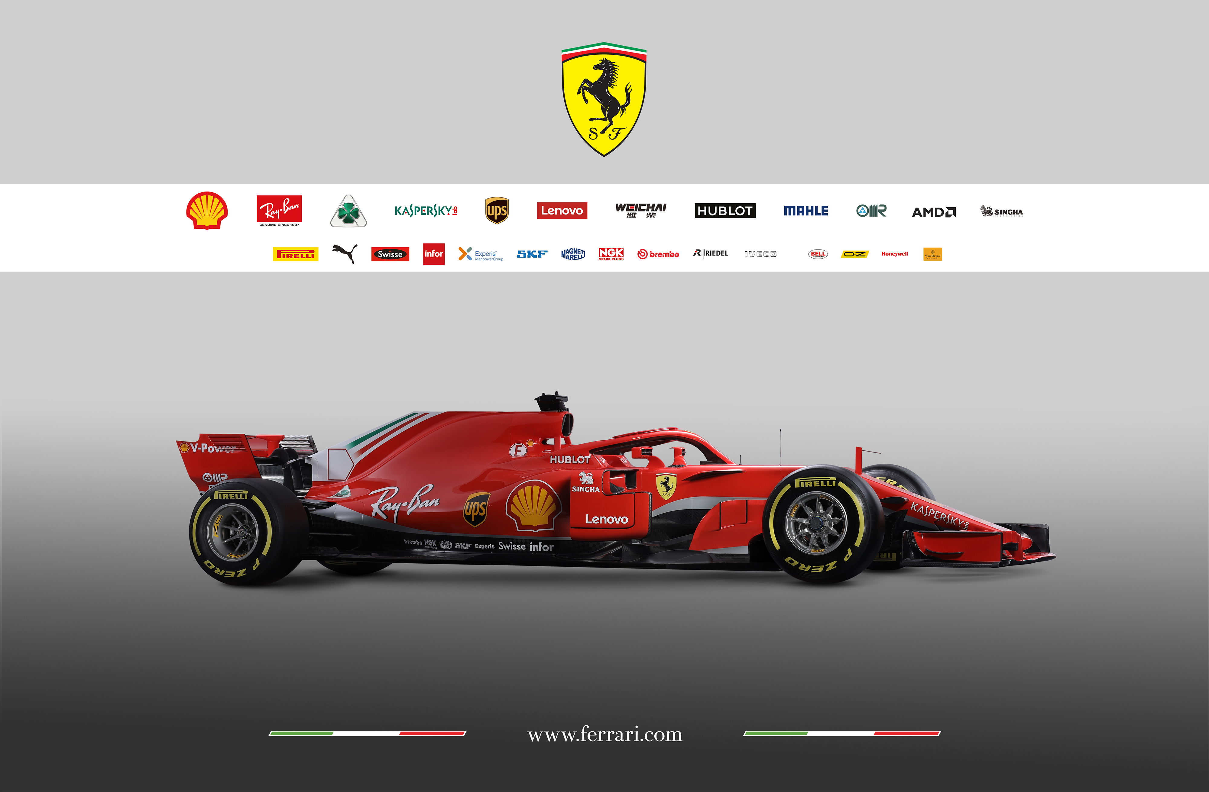 Scuderia Ferrari F1 SF-71H - 2018 - side-face