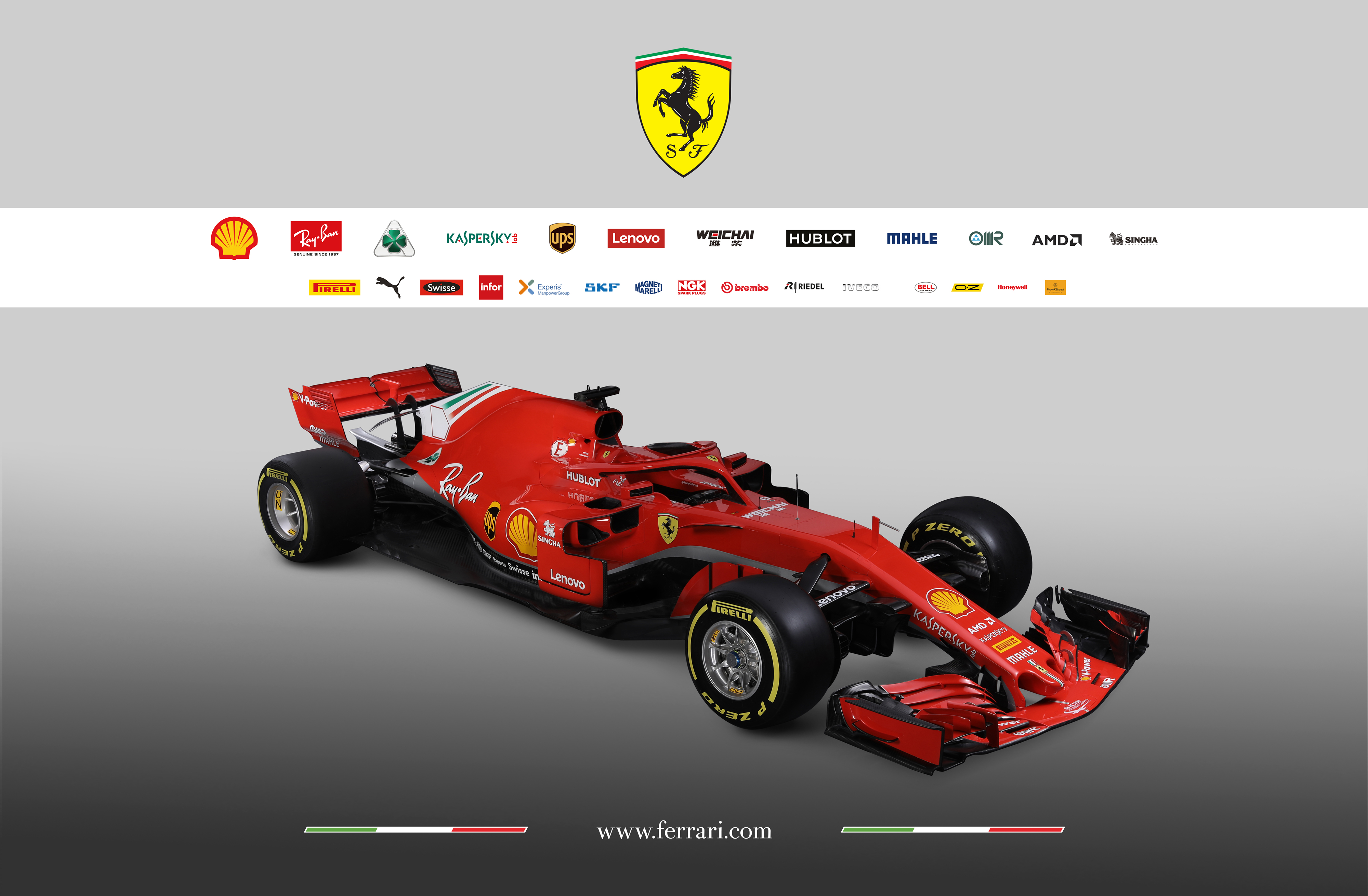 Scuderia Ferrari F1 SF-71H - 2018 - front side-face