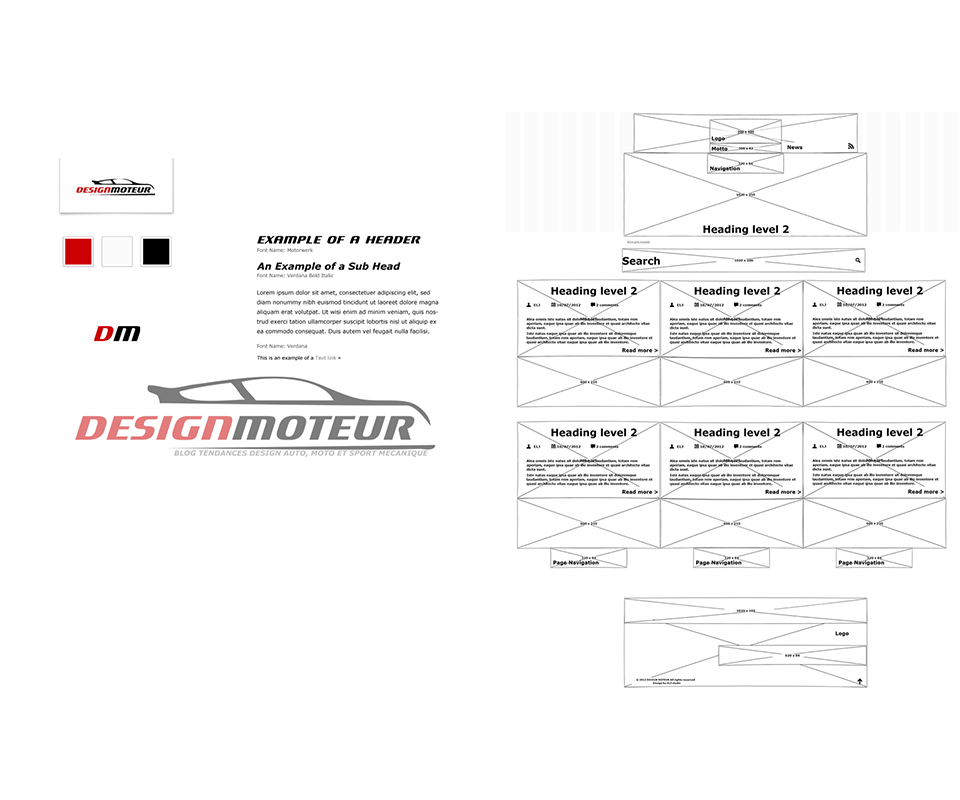 guidelines - wireframe - website - DESIGNMOTEUR 2013